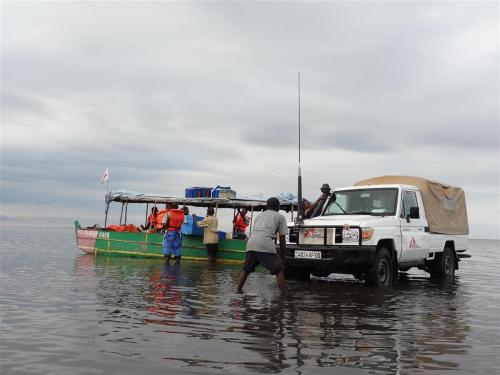Bevoorrading van een 3-daagse missie over het water
