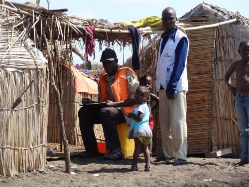 Mazelen vaccinatie campagne in de Katanga regio (zuid Congo)