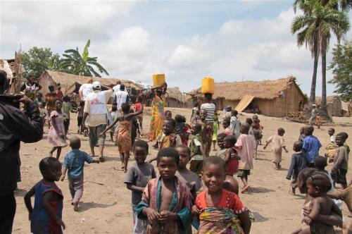 Dorp in Katanga, Congo DRC