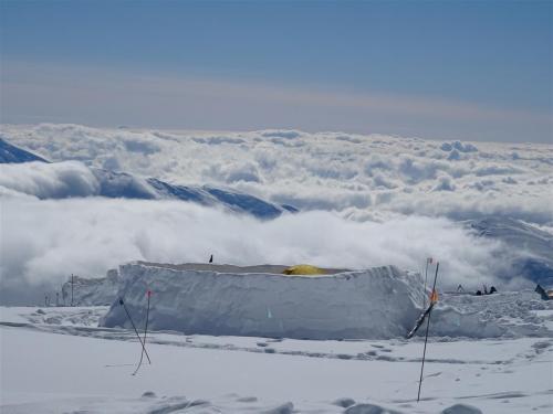 Kamp 3 op de Denali (Alaska) op 4350 meter hoogte