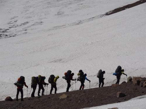 5400 meter met 20 kilo bagage op de Aconcagua