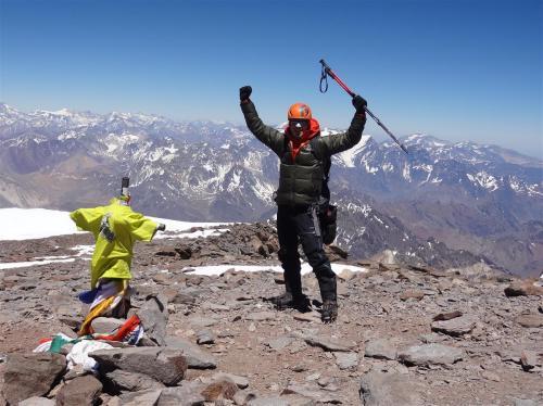 Summit van de Aconcagua (6962 meter)