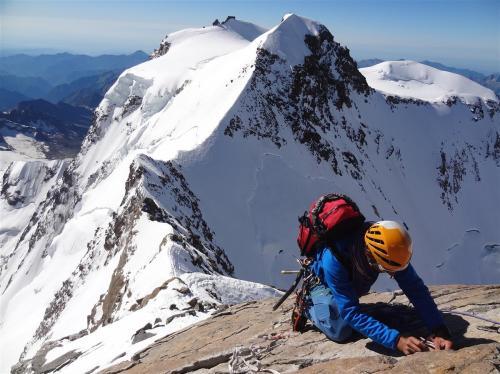 Beklimming Dufourspitze, 4634 meter (hoogste van Zwitserland)